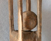 c1900s Hand Carved Ball in Cage Whimsey Signed Milt
