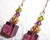 Filigree & Amethyst Exotic Earrings - Free Shipping