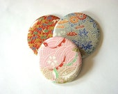 Set of 3 Asian Paper Hand or Pocket Mirrors