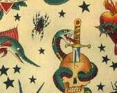 Alexander Henry Tattoo Fabric (tea)