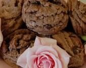 TRIPLE CHOCOLATE CHIP COOKIES, Ulljas shortbread cookies with triple chocolate chips