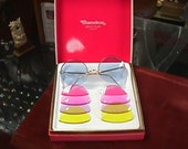 retro hippie colored lens sunglasses made in France