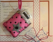 Pink and Black Dots Cell Cozy