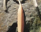 Hand-carved, cedar feather necklace