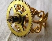Steampunk - Golden Filigree Gear