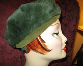 Fun 60's Green Fur Hat