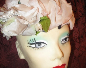 60's Sweet And Summer Ready Flower Petal Hat.