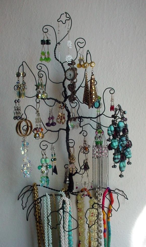 Wall Mount Tree Hanging Necklace Earring Bracelet Jewelry
