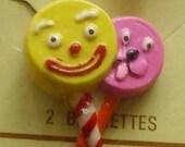 Vintage 80s Lollipop Barrettes