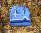 amazing blue VINTAGE leather bag