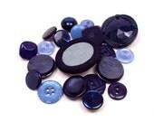 20 Vintage Blue buttons