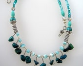 Wire Wrapped Necklace with Turquoise Stones