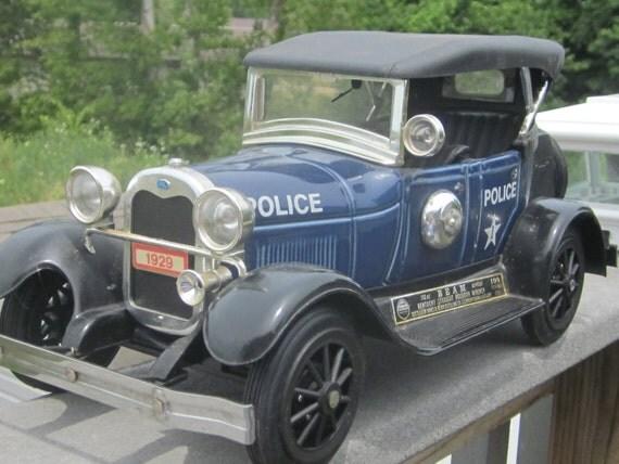 All Original Vintage Rochester Police Car Very Rare: Police Car Decanter 1929 Model A Ford Rare Blue Color Jim Beam