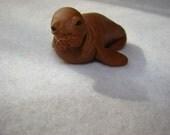 Polymer Clay Walrus Figurine