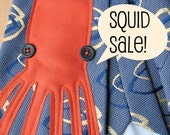 CYBER MONDAY etsy sale & FREE shipping - applique squid tie