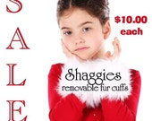 SHAGGIES Original REMOVABLE FUR CUFFS CUSTOM COLOR by BeRRyPoSh One size fits all