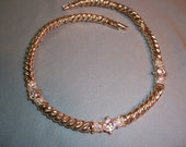 CLEARANCE.......Vintage Swarovski Goldtone with Clear Crystals Necklace