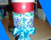 Bright Floral Corset Coffee Sleeve
