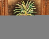 RESERVED for MYPlantsAndPins4YOU --- Original Pineapple Painting 8x10 frame artbyeve