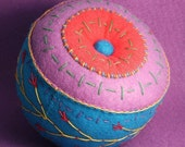 FREE SHIP Large Multicolor pincushion made to order