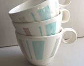 RESERVED for birdietweets SALE Set of Three Teacups
