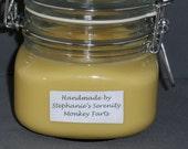 Handmade Soy Candle-Monkey Farts 16oz Jar