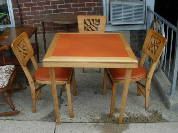 Items similar to vintage s stakmore folding card table
