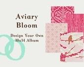 Custom 10x14 Album - Aviary Bloom Collection by Joel Dewberry