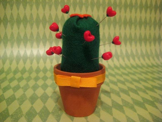 Love Hurts Cactus Pincushion