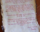 Letter FROM Santa and Special Gift