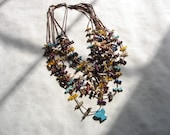 Vintage Native American 9-Strand Fetish Necklace