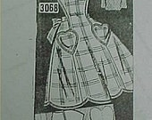 Vintage Reproduction Bib Apron Full Size Pattern Mail Order 30s CUTE  APR 8002