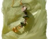Ju-Ju Swirls Earrings -copper & glass