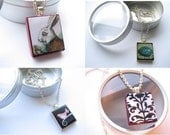 HOLIDAY PACKAGE DEAL 4 Complete Gift Sets, Each including a Pendant, Chain and Gift Tin