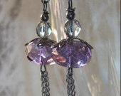 Purple Haze Vintage Style Earrings