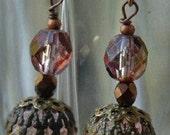 Just Pretty in Pink Vintage Style Earrings