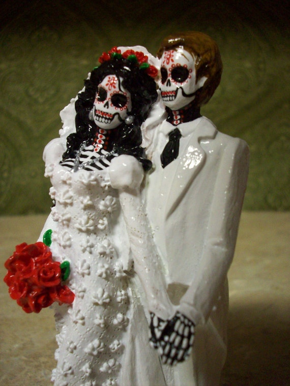 Items Similar To Day Of The Dead Sugar Skulls Wedding Cake