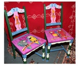 Hand Painted Mexican Chairs