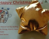 Cat Nip Gold Star Cat Toy for Christmas