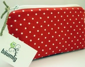 Pencil Case ...polka dots...red white