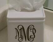 Monogrammed Tissue Box