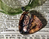 Vintage Ireland Map Glass Pendant 1 inch Triangular Pendant