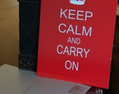 Keep Calm and Carry On 5x7 Postcard Red Crown England British