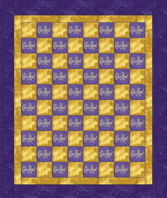 Items Similar To Crown Royal Quilt\/blanket Made With