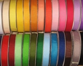 Lot 50 yards over 20 colors  mixed colors grosgrain ribbon 7\/8 YOU CHOOSE great for bow-makers