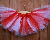 Sweet Candy Cane Red and White TuTu