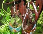 SALE\/Dreamcatcher Earrings in Aqua\/Red\/Yellow\/Green