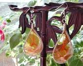 SALE\/Dreamcatcher Earrings in Orange II