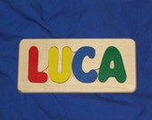 Wood Name Puzzle  LUCA - Ready to Ship