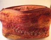 Hand made felt pouch